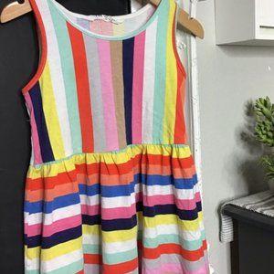 H&M Striped Colors Cotton Dress Girls 8-10Y